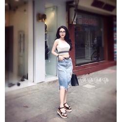 Váy Jean Chữ A