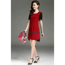 Đầm suông viền sọc