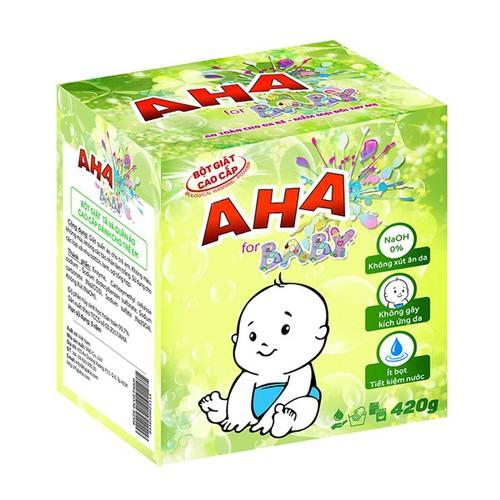 Bột giặt cao cấp AHA Baby 420g - 11047357 , 6557247 , 15_6557247 , 59000 , Bot-giat-cao-cap-AHA-Baby-420g-15_6557247 , sendo.vn , Bột giặt cao cấp AHA Baby 420g