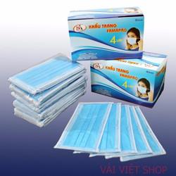 Hộp 50 cái khẩu trang y tế kháng khuẩn 4 lớp lọc Xanh