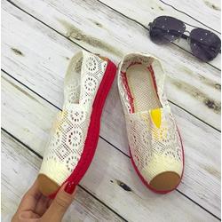 Giày mọi ren nữ đế đỏ mang cực êm