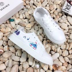 Giày sneaker nữ xinh dây nhiều màu