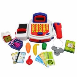 Bộ đồ chơi máy tính tiền siêu thị cho bé - Đỏ