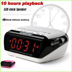 Loa Bluetooth MX18 USB Port - FM Radio - Alarm clock