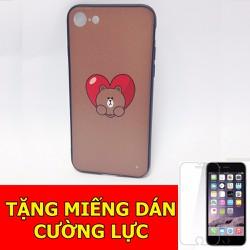 Ốp lưng gấu thỏ dành cho iPhone7 tặng 01 miếng dán cường lực