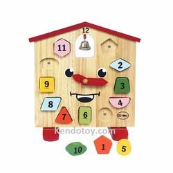 Đồng hồ kingkong | Đồ chơi gỗ an toàn cho bé