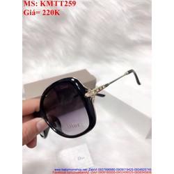 Kính mát nữ đen gọng nhựa đính hạt sang trọng KMTT259