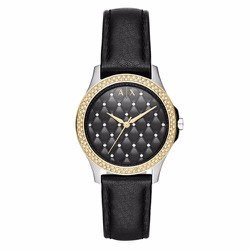Đồng Hồ Armani Exchange Lady Hampton Black Quilted Dial