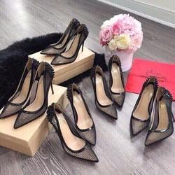 Louboutin lưới - Louboutin giày cao gót đinh lưới