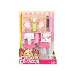 Barbie Nội thất nhà bếp - Bộ bàn ăn và thú cưng
