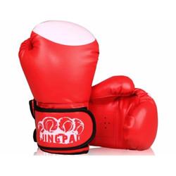 Găng tay đấm boxing chuyên nghiệp Jingpai-đỏ