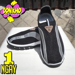 Giày thể thao đen không dây có dạ quang