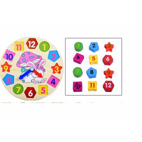 Bộ đồng hồ số cho trẻ 2 -5 tuổi, đồ chơi giáo dục