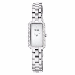 Đồng Hồ Citizen Eco-Drive Silhouette Crystal Silver Tone
