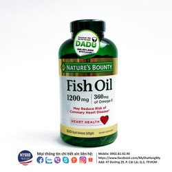 Fish Oil Nature Bounty 320v hàm lượng cao, tốt cho mắt và tim mạch