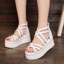 Giày dép nữ | Sandal đế xuồng - Sandal đế xuồng quai kép