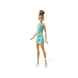 Barbie Fashionistas - Váy kẻ xanh ngọc bích