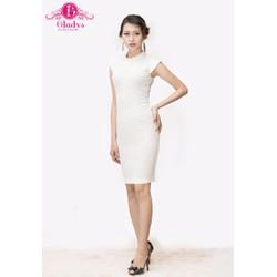 Đầm thiết kế đầm ôm body trắng phối lưới lưng