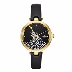 Đồng Hồ Kate Spade New York Champagne Holland Black Leather
