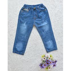 Quần jean dài hai túi sau wash