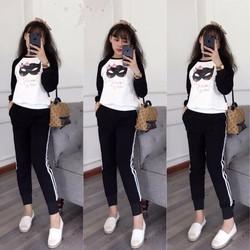 Bộ quần áo thể thao cotton nữ