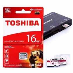 Thẻ nhớ micro SD Toshiba 16Gb Class 10 Chính Hãng