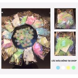 Dạ quang hoa tuyết màu xanh lá bịch 50 cái