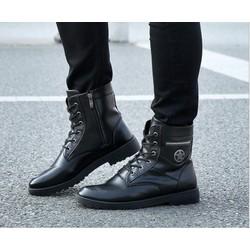 Giày nam combat boot ngôi sao