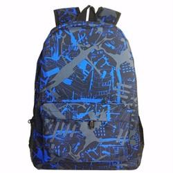 Ba lô vải dù họa tiết đen xanh N130
