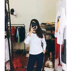 Bộ đồ mặc nhà nữ trơn màu phối màu