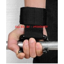 Găng cuốn có đệm bảo vệ cổ tay có móc hỗ trợ tập tạ nâng xà kéo xô