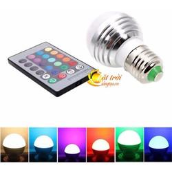 Bóng đèn led đổi màu có điều khiển từ xa RGB 3W E27 bóng đèn