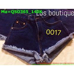 Quần short jean nữ phong cách bụi bặm QSO365