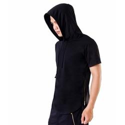 Áo hoodie lai bầu phối zip