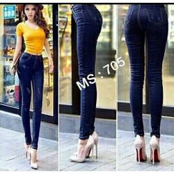 quần jean dài lưng cao