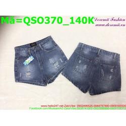 Quần short jean nữ rách xước nhẹ QSO370
