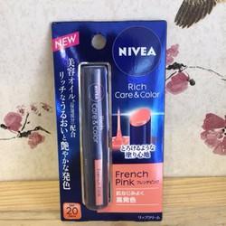 Son dưỡng môi có màu Nivea Rich care and color SPF20 PA++