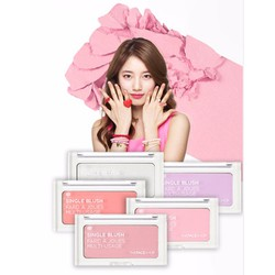 PHẤN MÁ HỒNG MINI DẠNG VỈ SINGLE BLUSH THE FACE SHOP