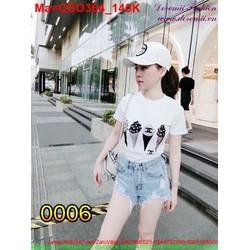 Quần short jean nữ phong cách cá tính QSO364