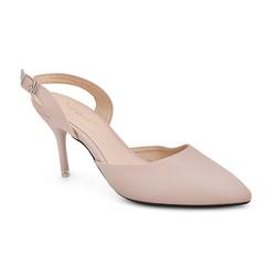 Giày công sở gót nhọn màu kem - BH 6 tháng