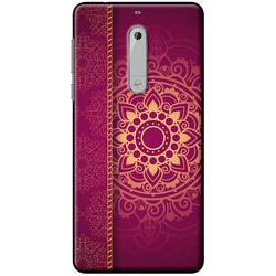 Ốp lưng Nokia. 5 Họa tiết Mandala đỏ