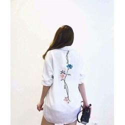 áo so mi in hoa form rộng siêu xinh -pll2309