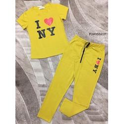 Set áo thun I Love NY quần dài