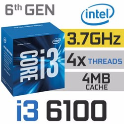 CPU Intel Core i3-6100 3.7 GHz-3MB-HD 530 Graphics- Socket 1151