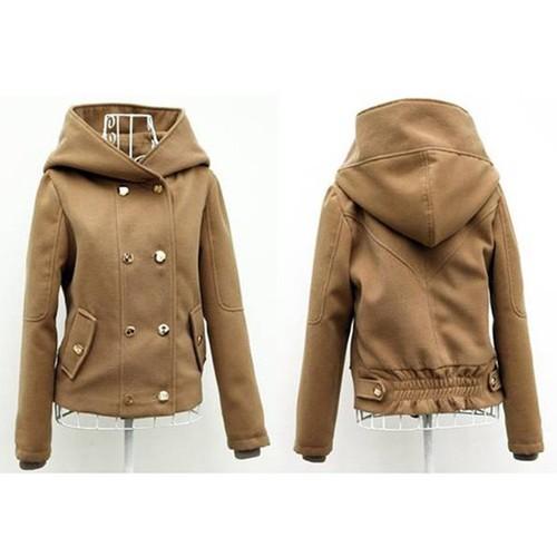 Áo khoác nữ màu da bò - LV095