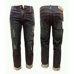 Quần jean nam xước màu xanh đen