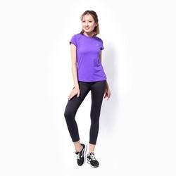 Áo thể thao nữ tay ngắn logo Adidas màu Tím - Size XL