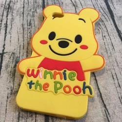 Ốp lưng Iphone 6 plus, 6s plus hình gấu Pooh má hồng