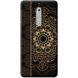 Ốp lưng Nokia. 5 Họa tiết Mandala đen
