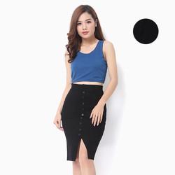 Combo 2 áo crop top phong cách màu đen xanh